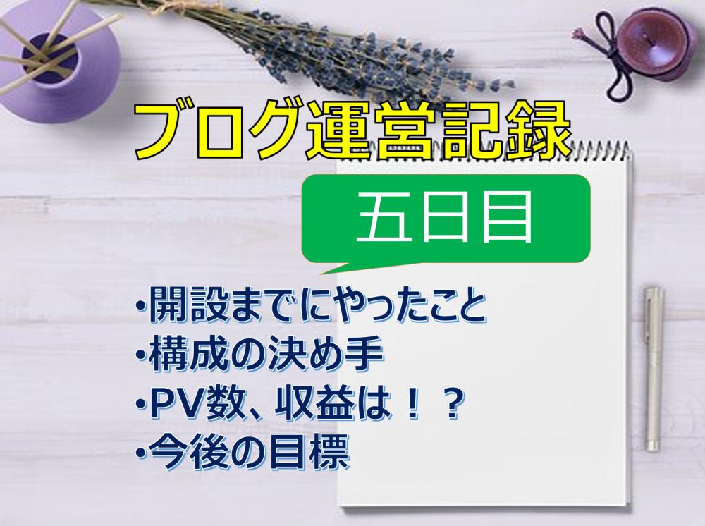 ブログ運営記録~開始5日目